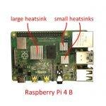 Raspberry Pi 4B heatsinks