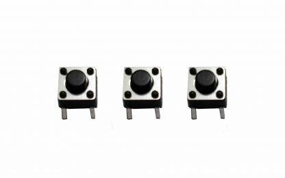 switches, tactile push button: 6x6x5mm 4 pin
