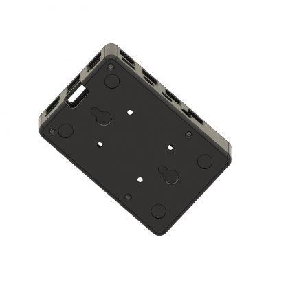 Raspberry Pi 3D case bottom