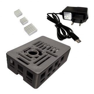 Raspberry Pi case heatsinks power supply