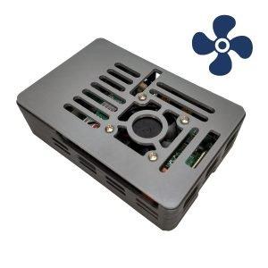Raspberry Pi 4B case with fan
