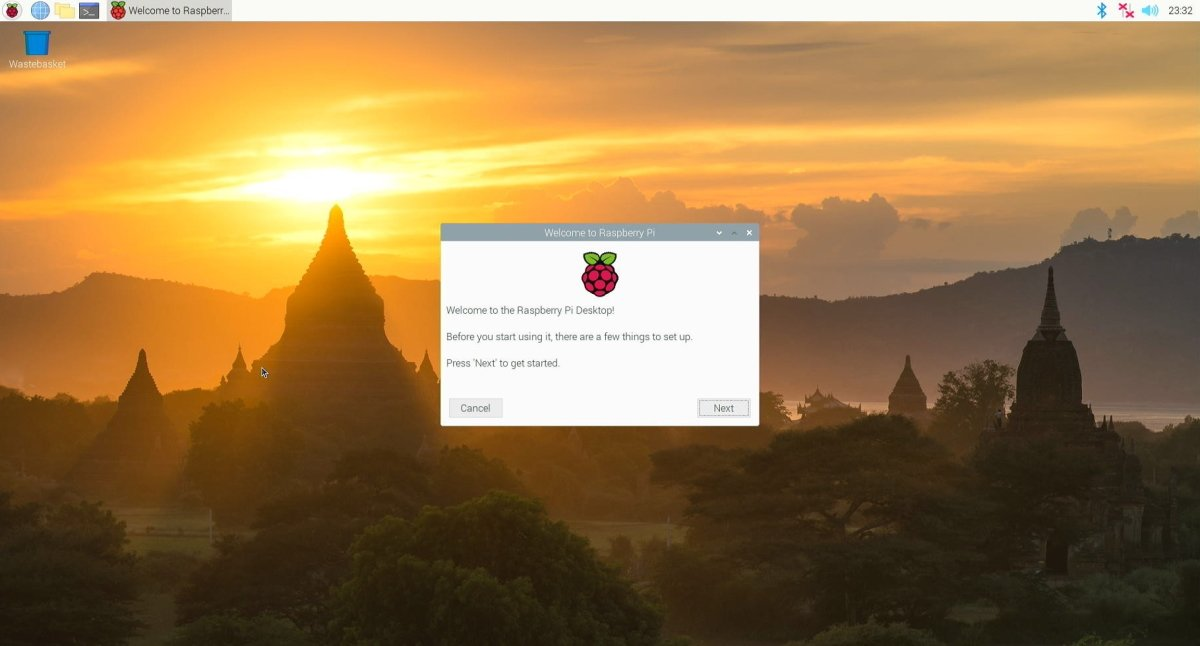raspberry pi os welcome